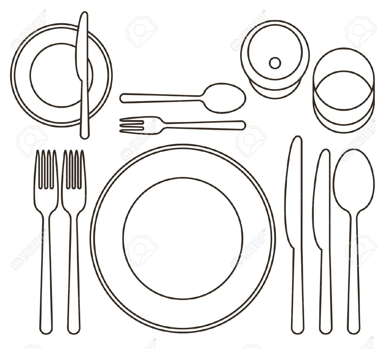 Tischgedeck Clipart Free Dinner Setting Cliparts Download Free Clip Art Free