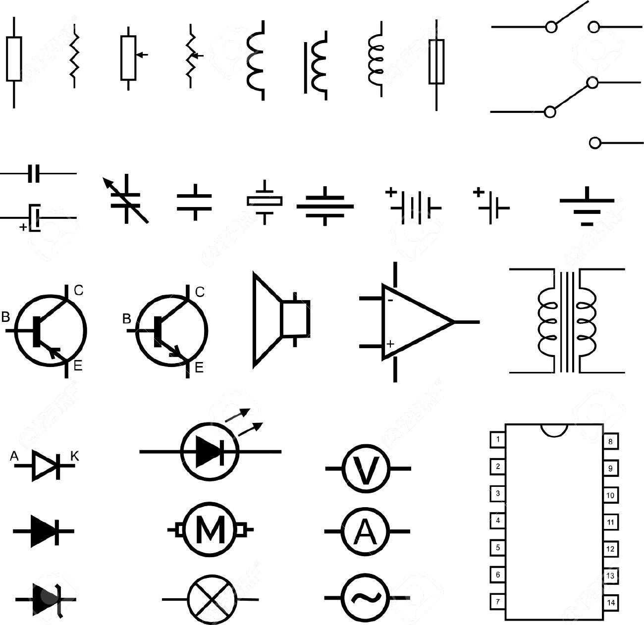 schematic symbol of wire