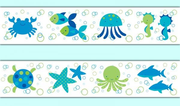 Cute Watercolor Wallpaper Ocean Life Clipart Border Clip Art Library