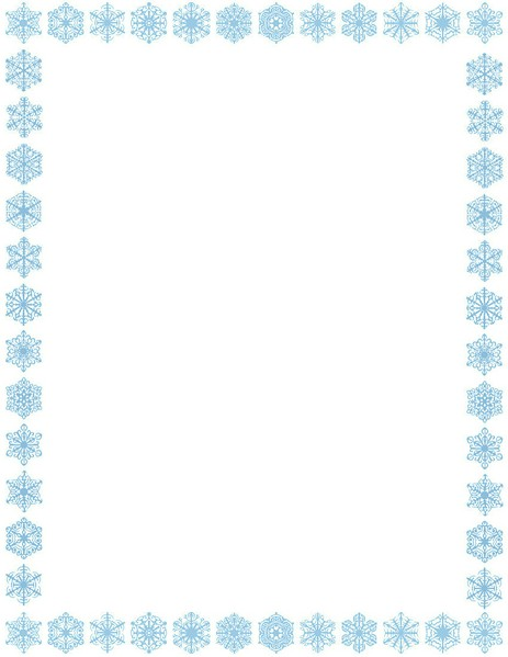 Free Snowflake Frame Cliparts, Download Free Clip Art, Free Clip Art - snowflake borders for word