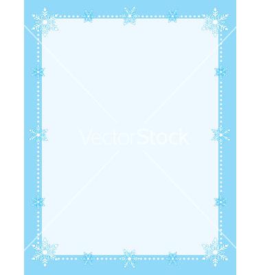 Christmas star snowflake border clip art Free vector in - Clip Art - snowflake borders for word