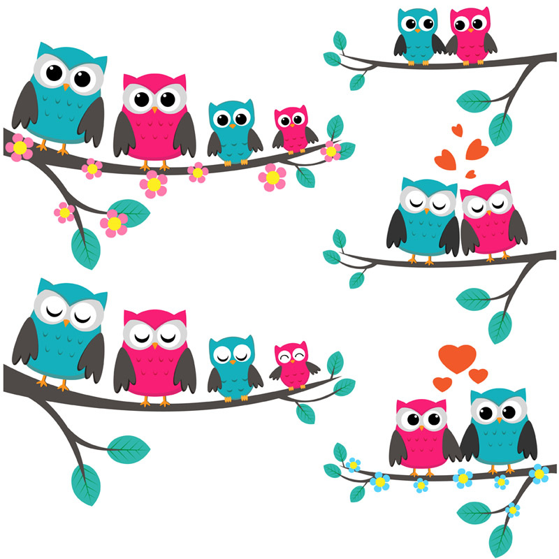 Free Owl Family Cliparts, Download Free Clip Art, Free Clip Art on