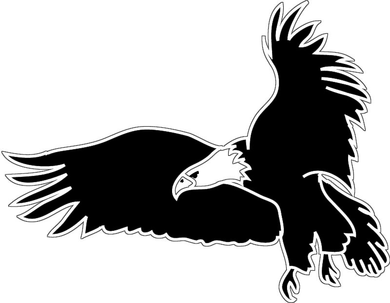 Flying eagle pattern Use the printable outline for crafts - Clip