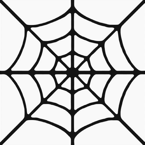 simple spider web template - Clip Art Library