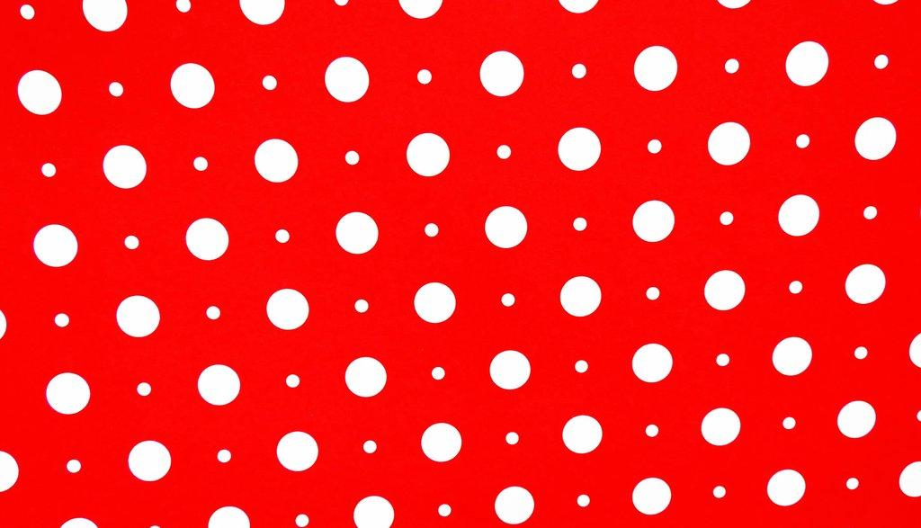 Black And White Polka Dot Wallpaper Border Red