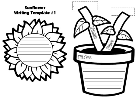 Sunflower Leaf Template - Flowers Healthy