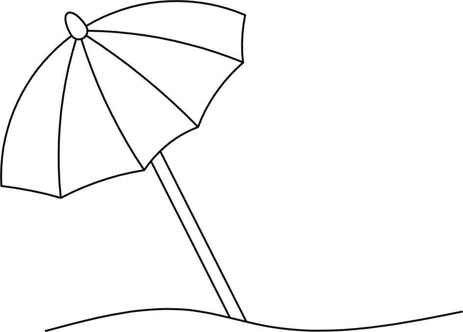 Umbrella clipart outline - Clip Art Library