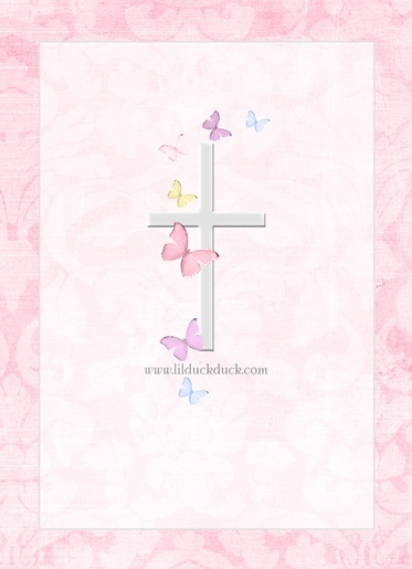 Religious Wallpaper Blessed Girl Christening