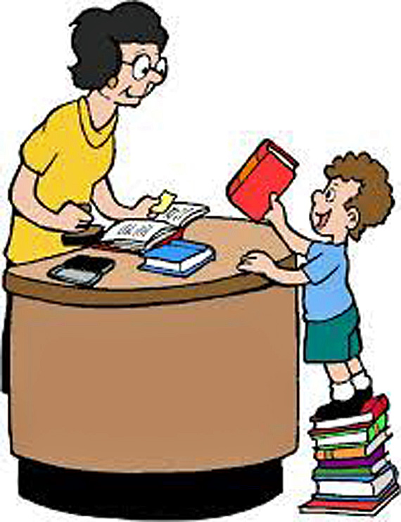 Book Check Out Clipart - Clip Art Library