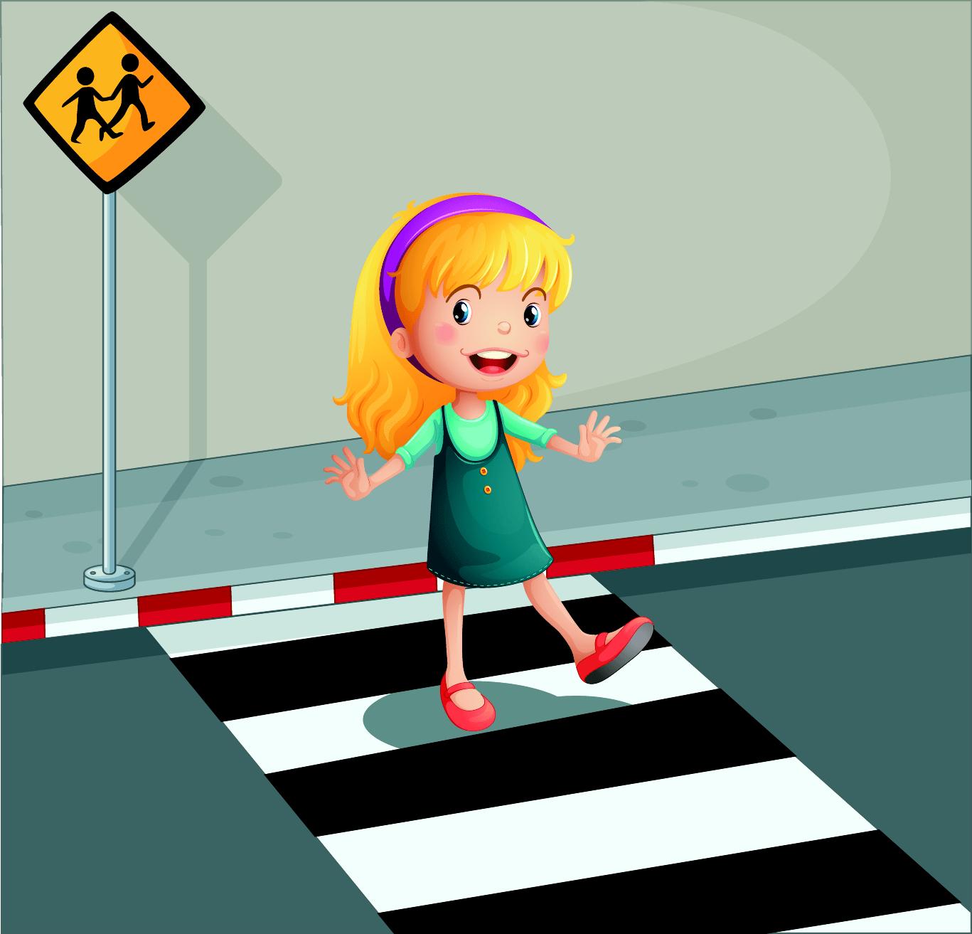 Road Crossing Clipart Help People Cross The Roadcartoon Clipart Best