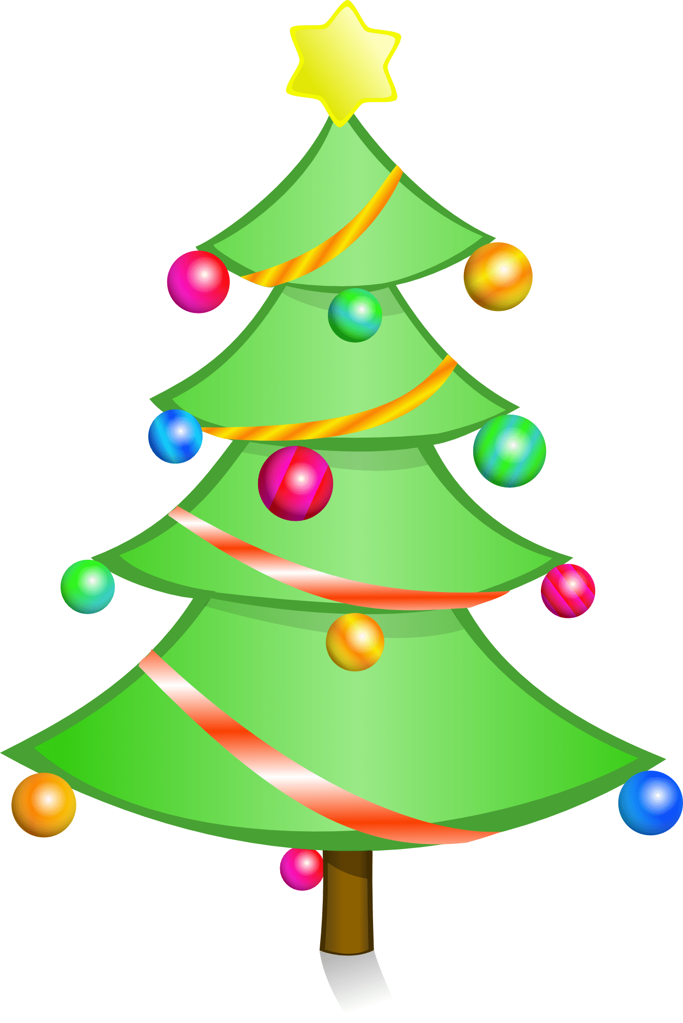 Christmas Tree With Santa Clip Art Christmas Tree Clip Art Clipart Best