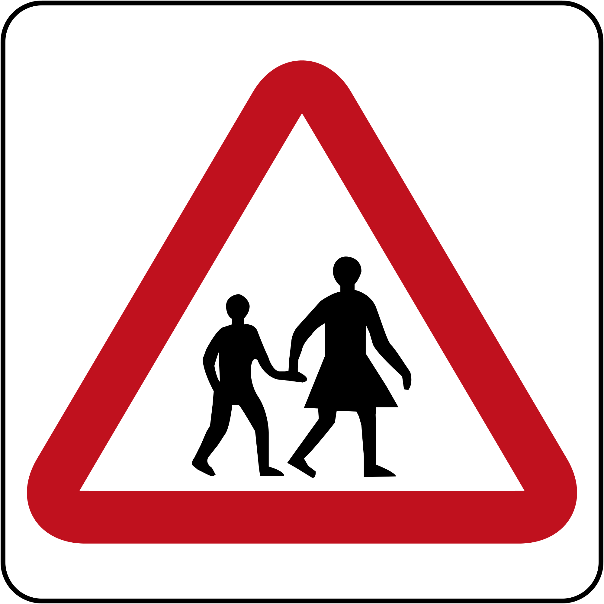 Road Crossing Clipart Children Crossing Signs Clipart Best
