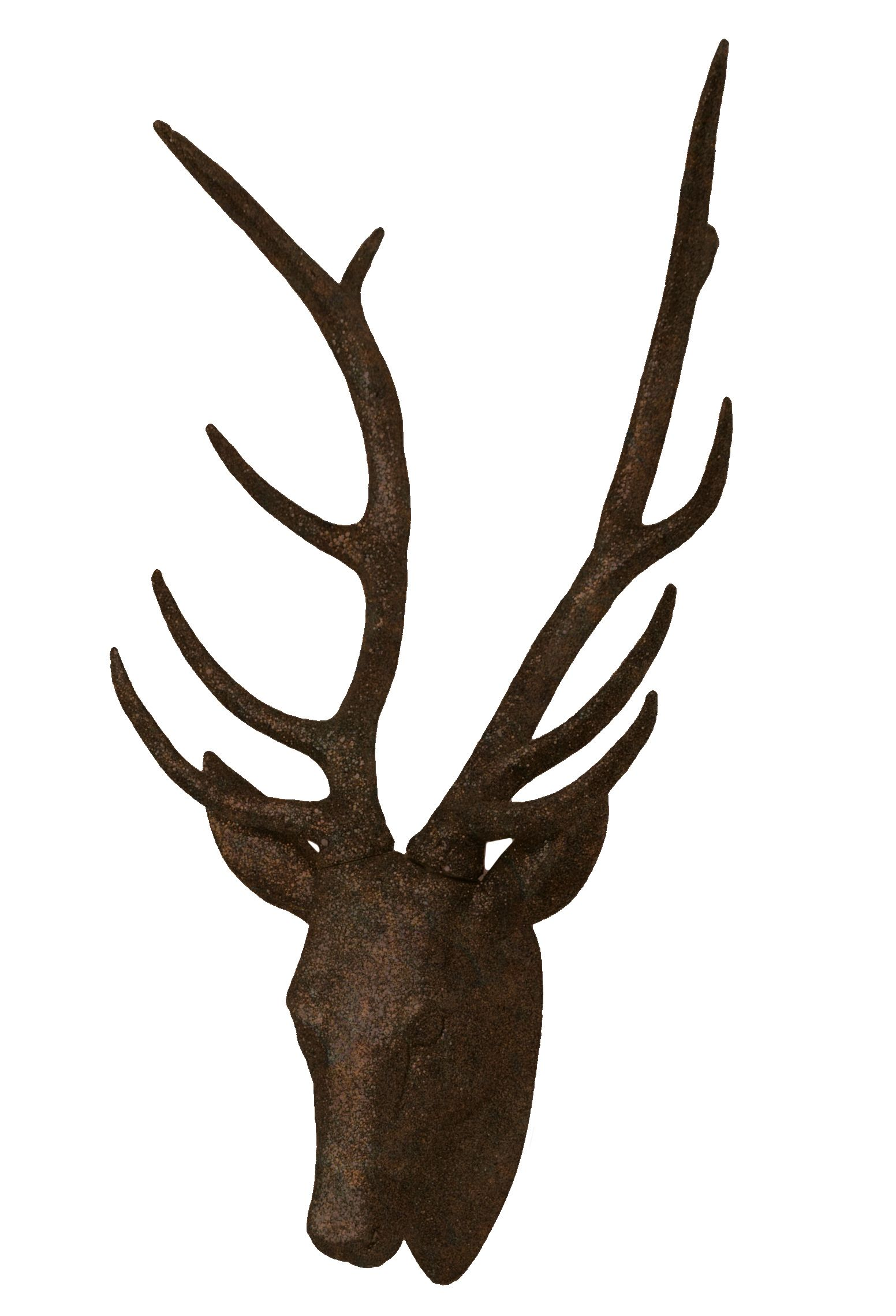 Faux Stag Head Rust Faux Deer Head Rust Stag Modern Home Decor