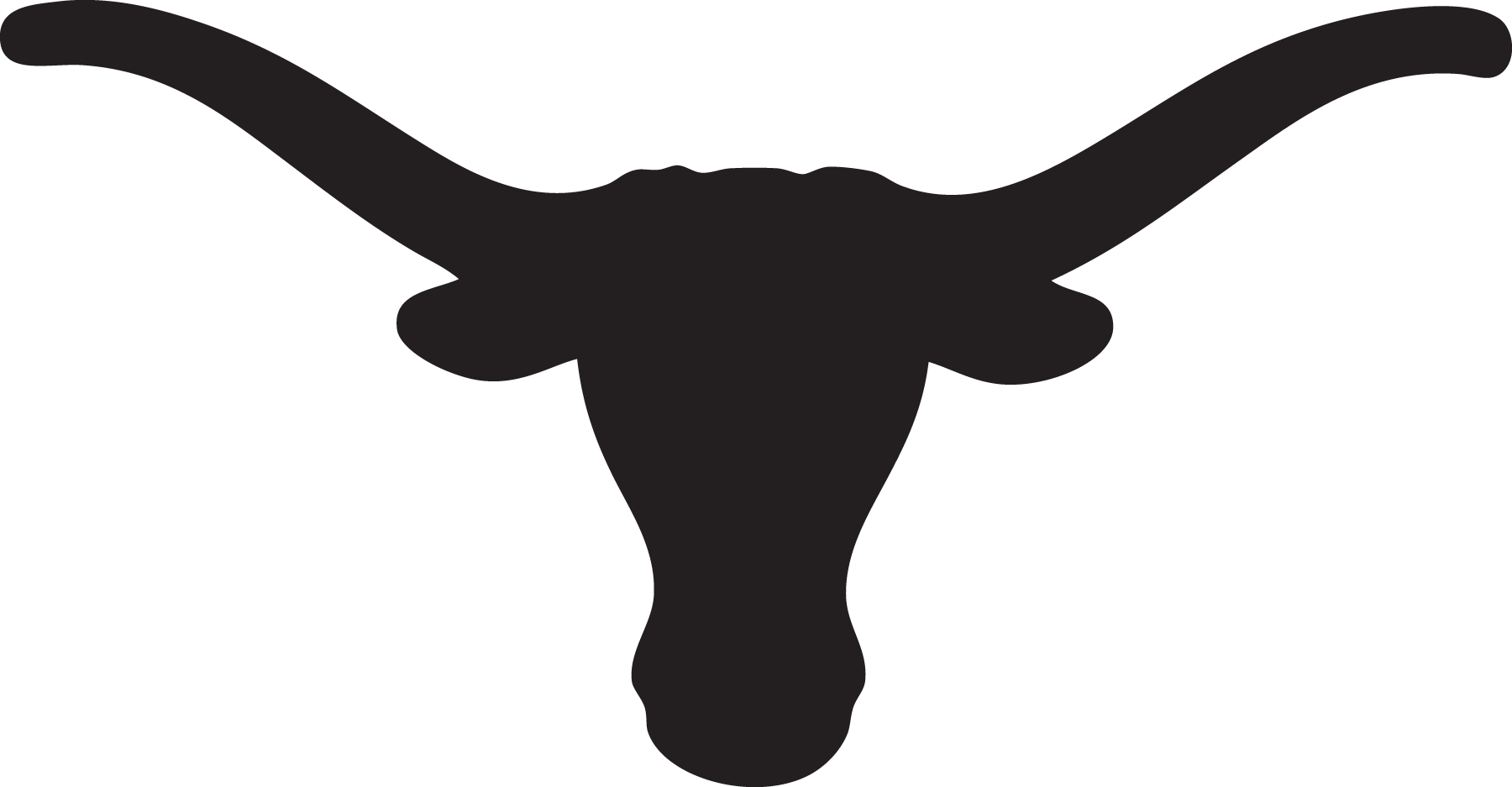 Steer Stencil Black And White Longhorn Outline Clipart Best