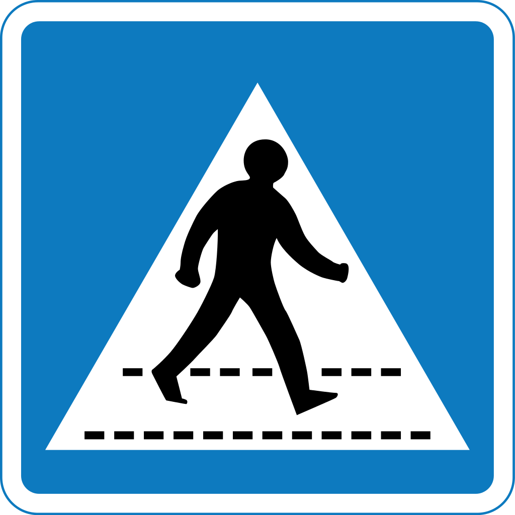 Road Crossing Clipart Zebra Crossing Sign Clipart Best