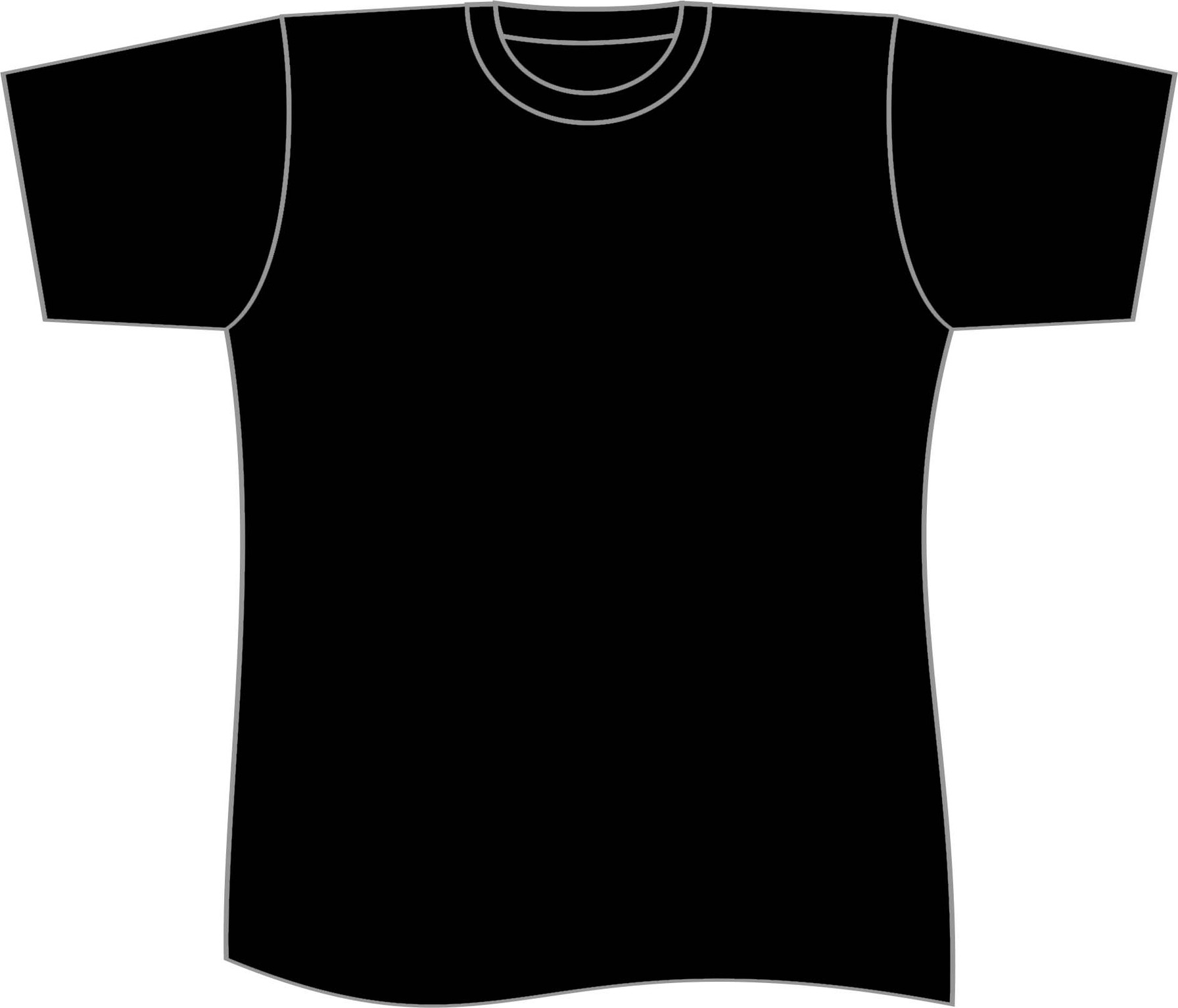 Black t shirt vector free -  Vector Template T Shirt Plain Black Shirt Template Clipart Free To Use Download