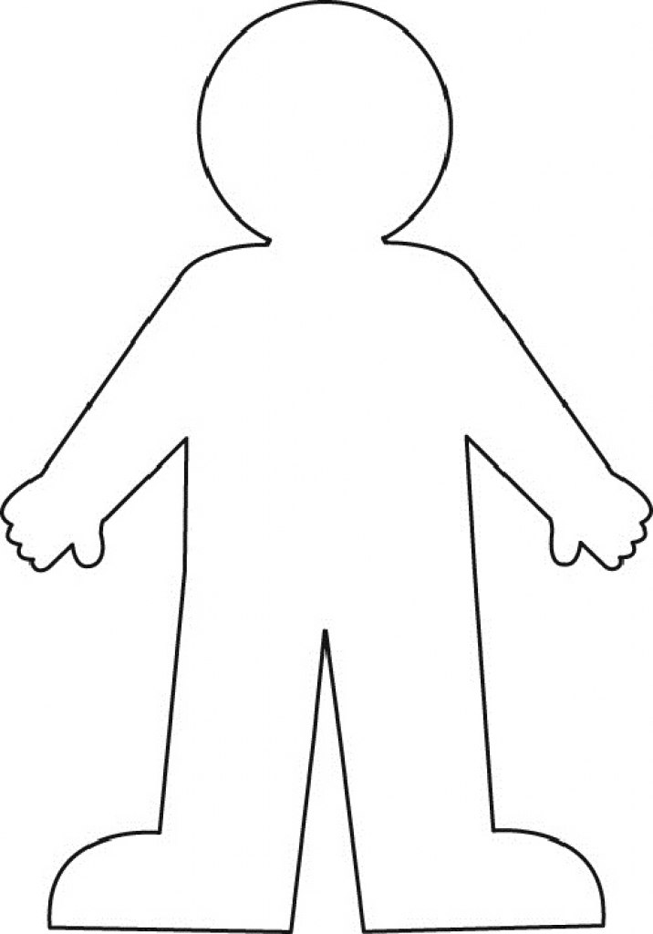 child outline template - Pinarkubkireklamowe
