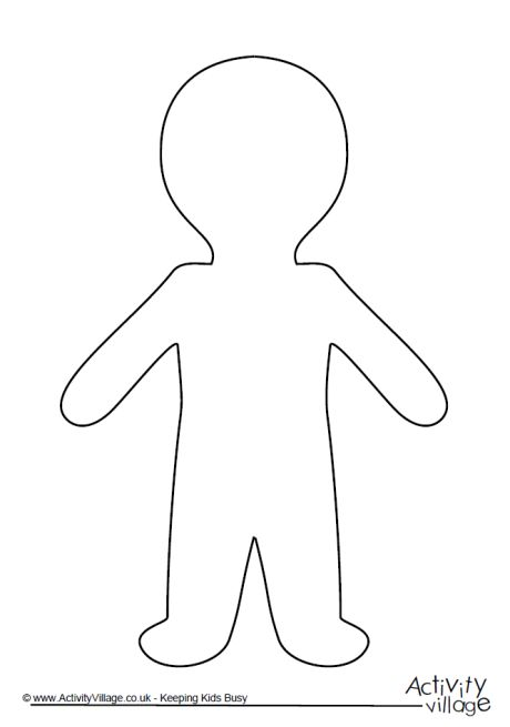Person outline person template - Cliparting