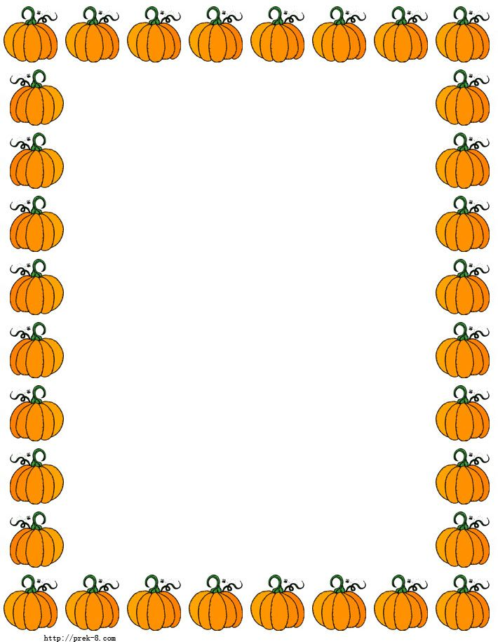 Best Pumpkin Border #1863 - Clipartion