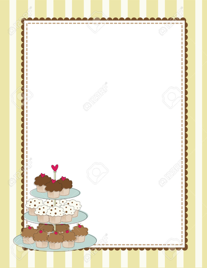 Cute Chef Wallpaper Best Cupcake Border Clip Art 21227 Clipartion Com