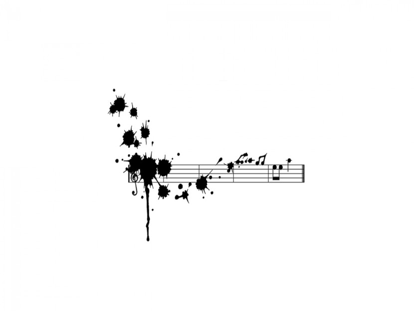 Cute Trumpet Wallpapers Black And White Music Notes Clipartion Com