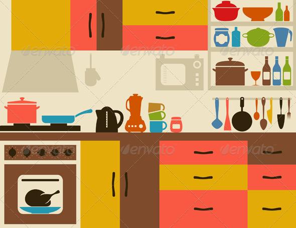 Kitchen room clipart home design jobs - Clipartix - home design jobs