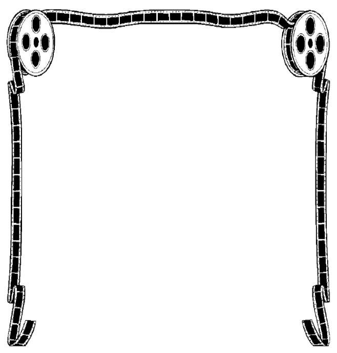 Movie reel frame clipart clipart - Clipartix