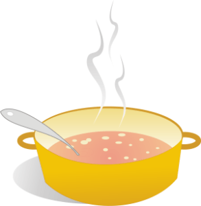 Cartoon Soup Pot Clip Art