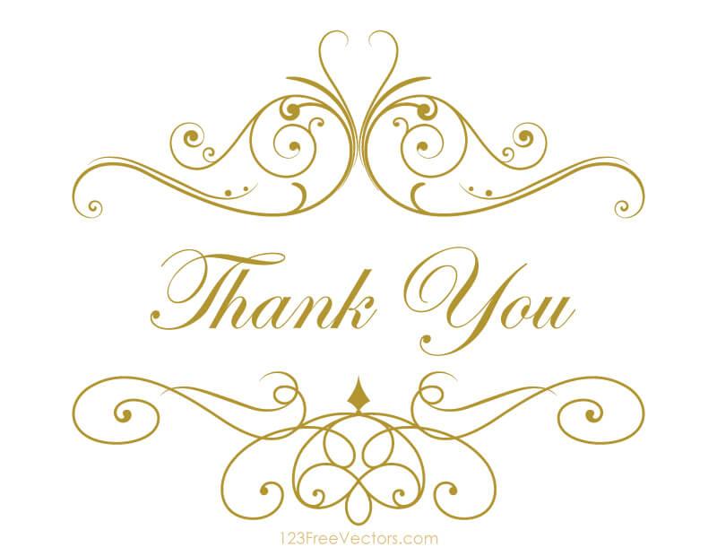 Thank you card template vectors download free vector art clip art