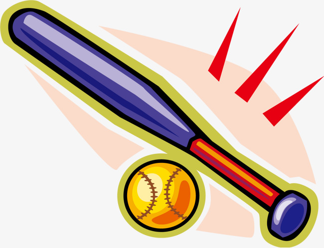 cartoon baseball bat Vector cartoon baseball baseball cartoon bat