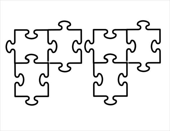 Five Piece Puzzle Template - Costumepartyrun