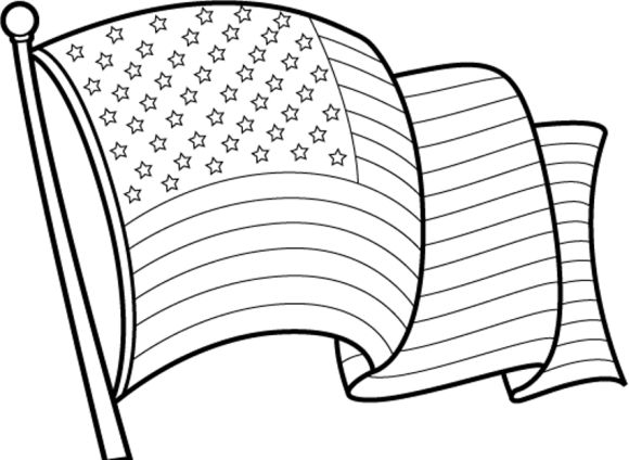 American Flag Clipart Black And White Free download best American