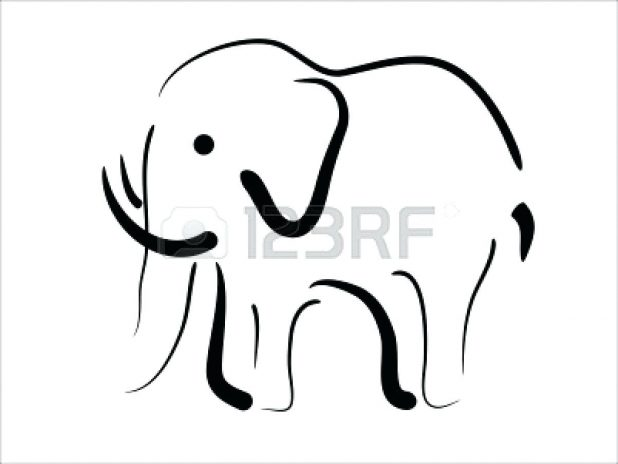 Baby Elephant Outline Free download best Baby Elephant Outline on
