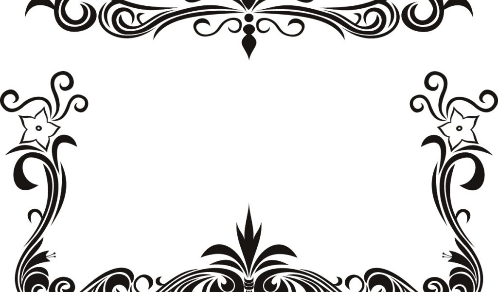 Border Design Black And White Clipart Free download best Border