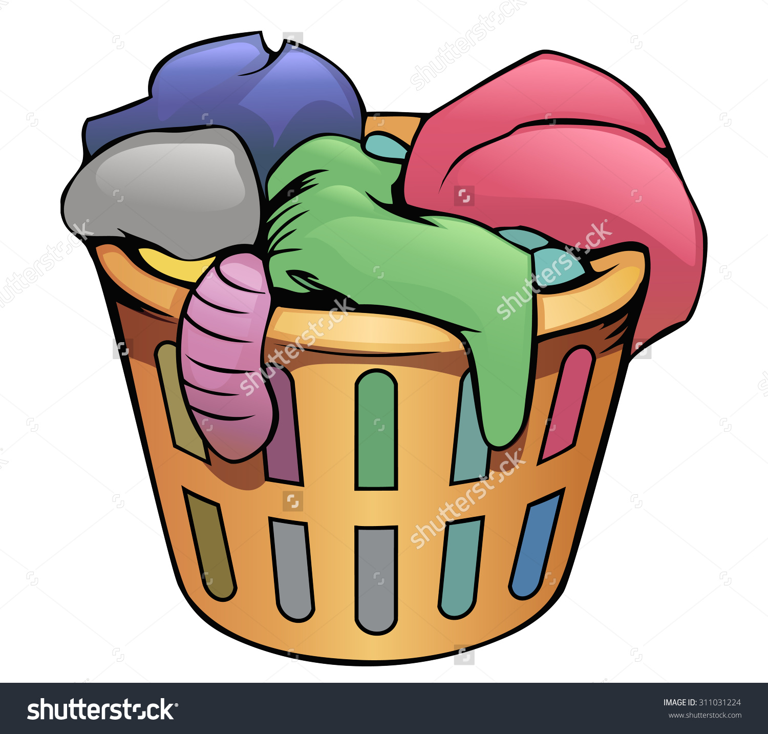 Dirty Laundry Baskets Clothes Hamper Clipart Free Download Best Clothes Hamper Clipart