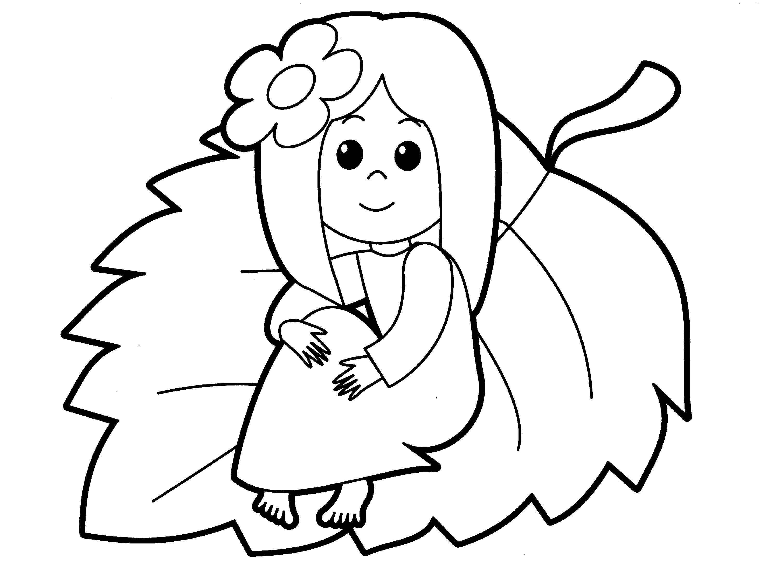 Coloring Pages Of A Girl - Eskayalitim
