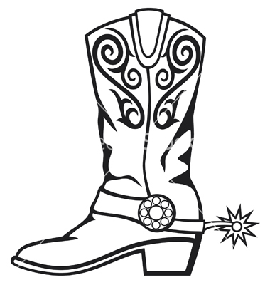Cowboy Boots Clipart Black And White Free download best Cowboy