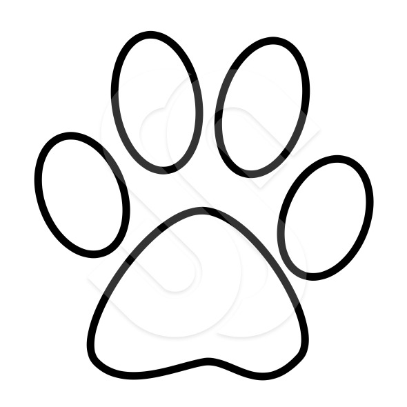 Dog Paw Outline Free download best Dog Paw Outline on ClipArtMag