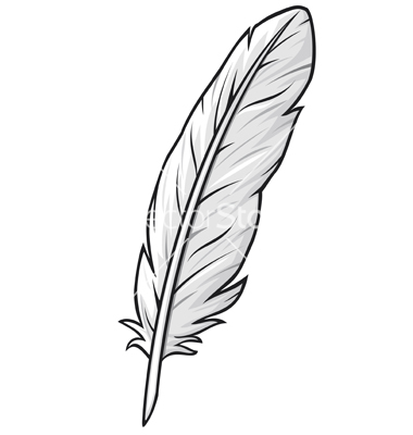 Feather Outline Clipart Free download best Feather Outline Clipart