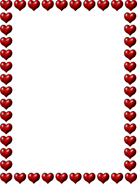 Free Heart Border Clipart Free download best Free Heart Border - free border for word