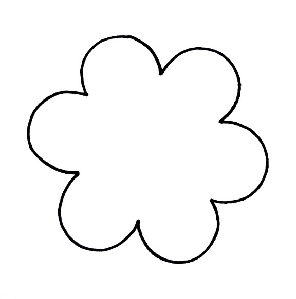 Free Printable Flower Templates Clipart Free download best Free