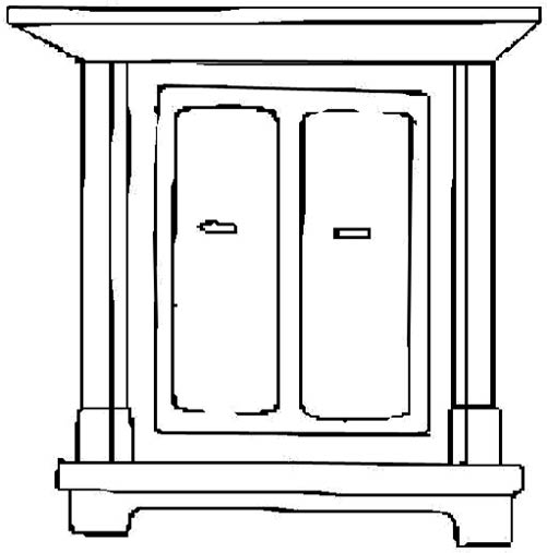 Furniture Clipart Black And White Free Download On