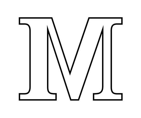 Letter M Outline Free download best Letter M Outline on ClipArtMag