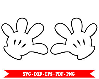 Minnie Mouse Hands Template