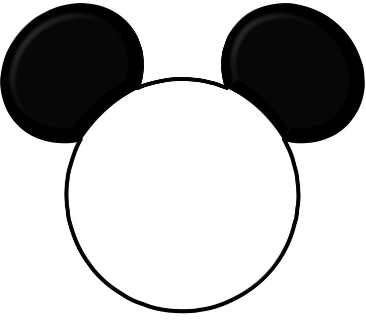Mickey Mouse Head Silhouette Clipart Free download best Mickey