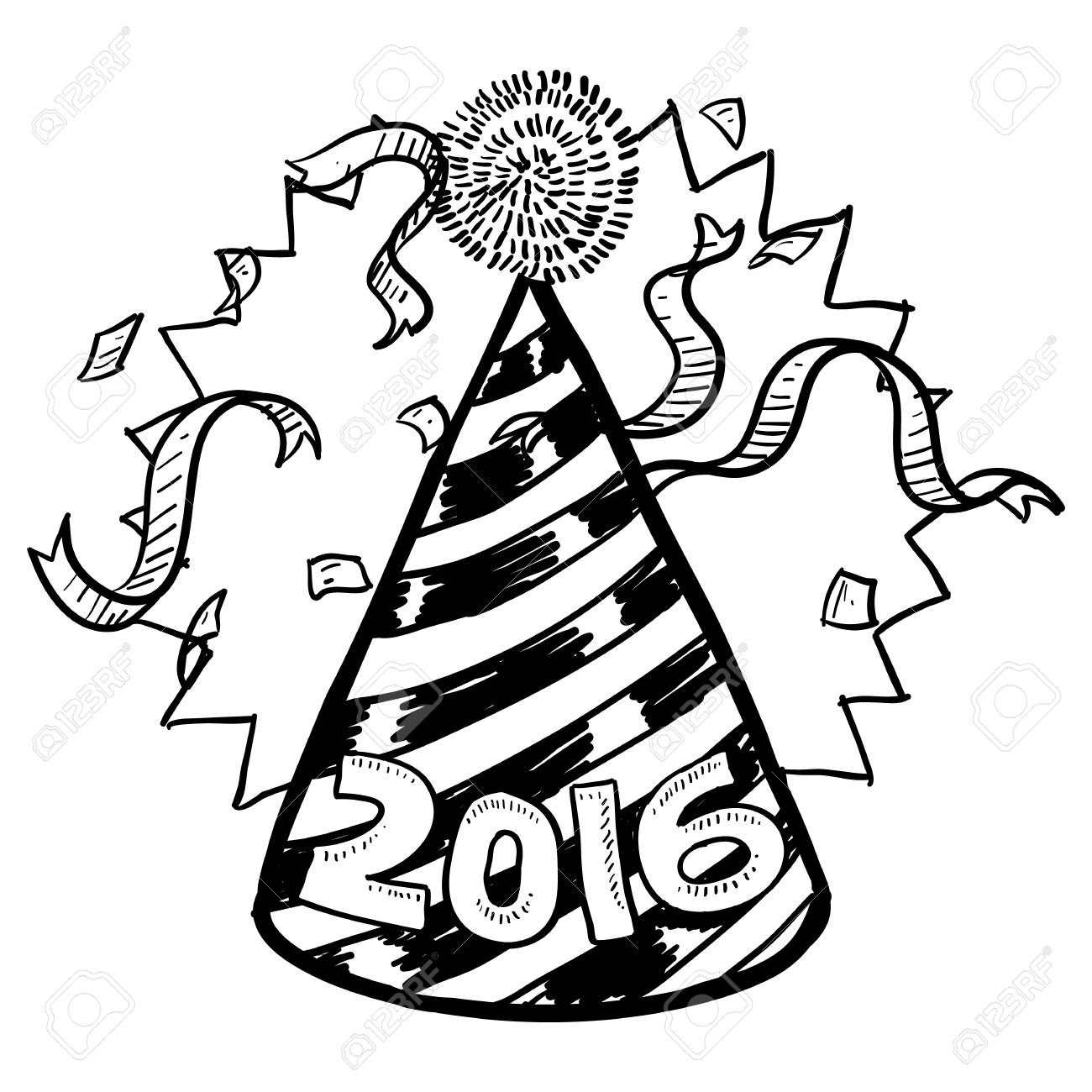 Party Hat Clipart Black And White Party Hat Clipart Black And White Free Download Best Party Hat