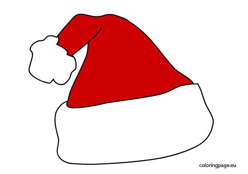 coloring santa hat coloring page sheet claus santa hat coloring page