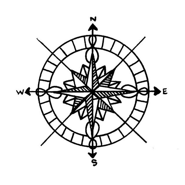 Printable Compass Rose Clipart Free download best Printable