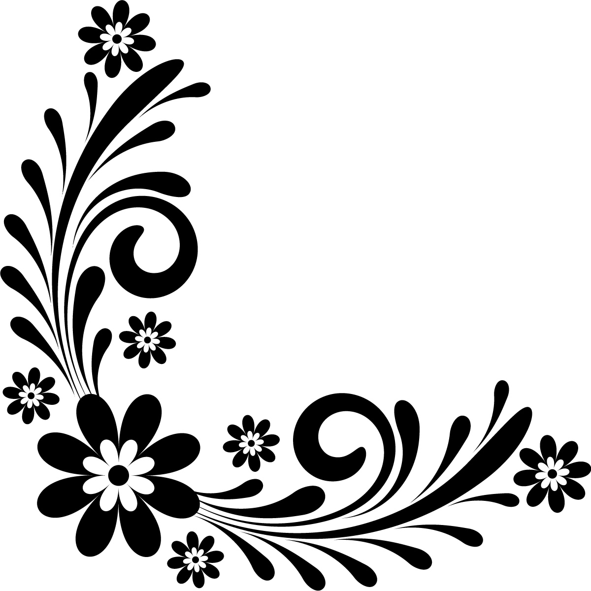 Black And White Art Ideas Page Border Designs Flowers Black And White Cliparts Co