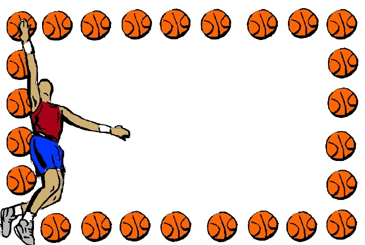 Basketball Page Borders - Cliparts